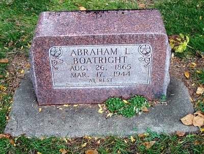 Abraham Lincoln Boatright Gravestone