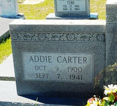 Addie Lee Carter Boatright Gravestone