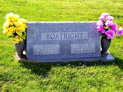 Albert C. and Leota M. Boatwright Gravestone