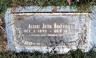 Albert Jeter Boatwright Gravestone