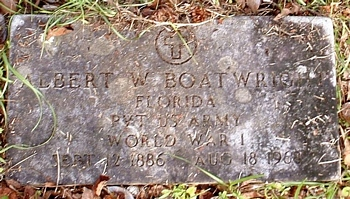 Albert William Boatwright Gravestone