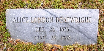 Alice London Boatwright Marker