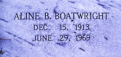 Aline Richards Bailey Boatwright Gravestone