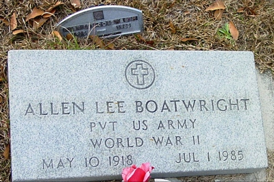 Allen Lee Boatwright Gravestone