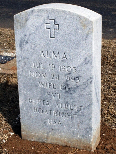 Alma L. Webb Boatright Gravestone: