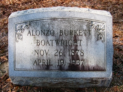 Alonzo Burkett Boatwright Gravestone