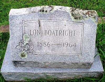Alonzo Lon Boatright Gravestone