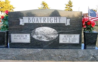 Alton J. Boatright Gravestone: