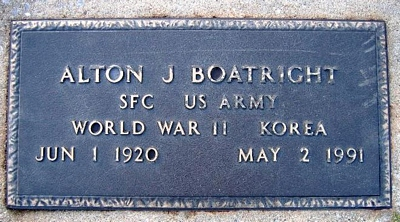 Alton J. Boatright Marker: