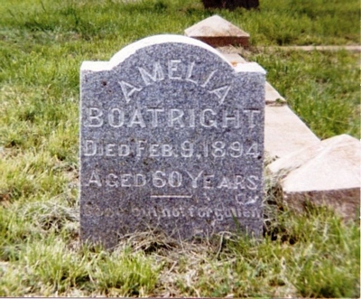 Amelia Sophie White Boatright Gravestone