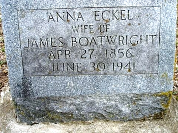 Anna Eckel Boatright Gravestone