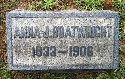 Anna J. Toney Boatwright Gravestone