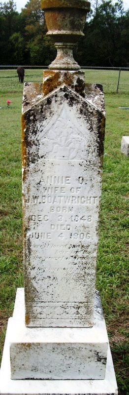 Annie O. Langley Boatwright Gravestone