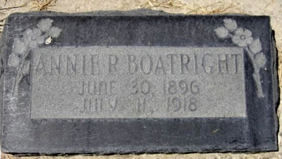 Annie Elizabeth Richins Boatright Marker