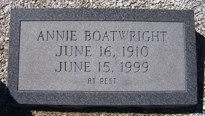 Annie Smith Boatwright Gravestone