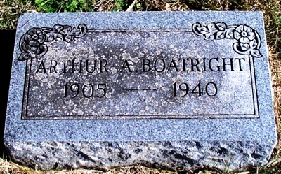 Arthur Axton Boatright Gravestone