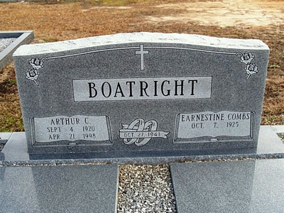Arthur Claude Boatright Gravestone