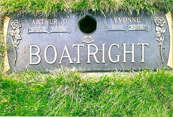 Arthur Dale and Phylis Yvonne Boyd Boatright Gravestone