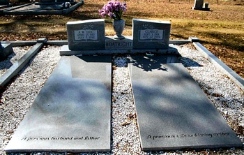 Arthur Wilson and Helen Clarice Holmes Boatright Gravestone