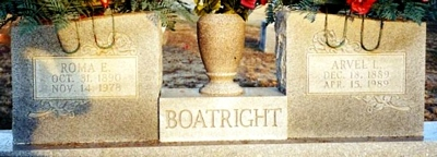 Arvel Lution Boatright Gravestone