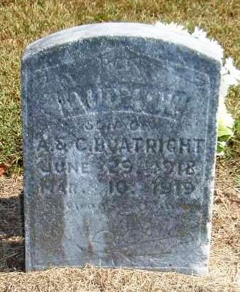 Audy Wilson Boatright Gravestone: