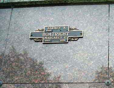 Barney Alston and Margaret Eleanor Buffinger Boatright Gravestone: