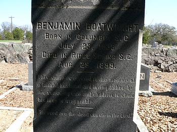 Benjamin Middleton Boatwright Gravestone