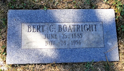 Bert Cleveland Boatright Marker