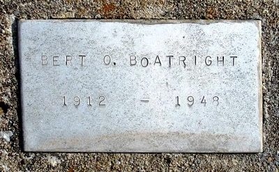 Bert Obern Boatright Marker