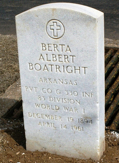 Berta Albert Boatright Gravestone: