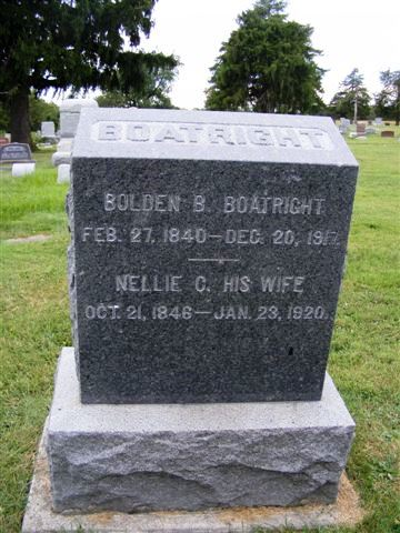 Bolden Baldwin and Eliza C. Boatright Gravestone