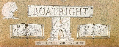 Burnett Lee Boatright Gravestone