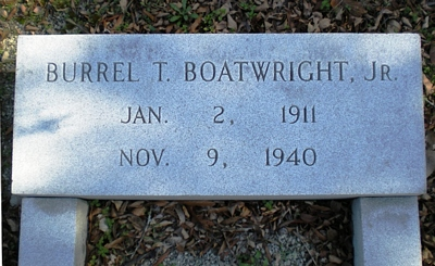 Burrel Thomas Boatwright Gravestone
