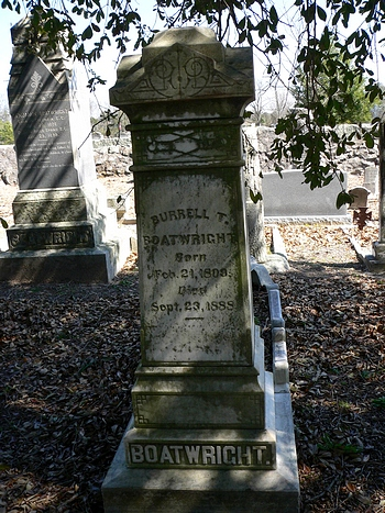 Burrell Thomas Boatwright Gravestone