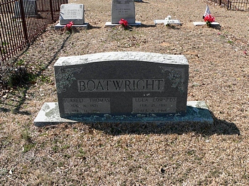 Burrell Thomas and Lula Edwards Boatwright Gravestone