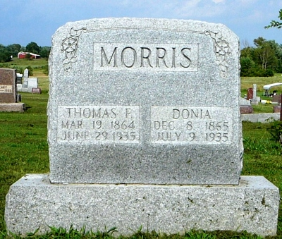 Caldonia Boatright and Thomas Franklin Morris Gravestone