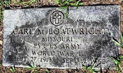 Carl Morine Boatwright Gravestone