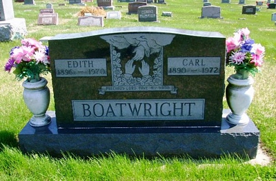 Carl William and Edith Ewan Boatwright Gravestone