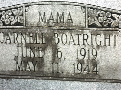 Carnell Boatright Gravestone