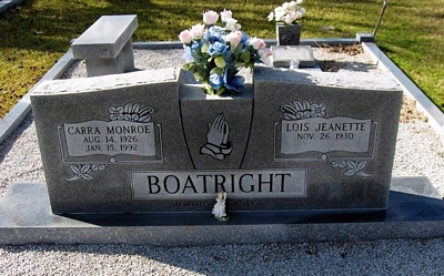 Carra Monroe Boatright Gravestone