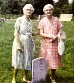 Pearl Saunders and her sister Carroll Saunders Cathey  