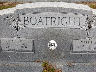 Cashier William and Martha Syville Hughes Boatright Gravestone