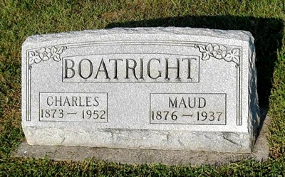 Charles Arbuckle and Maud Pemberton Boatright Gravestone