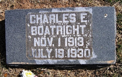 Charles E. Boatright Gravestone: