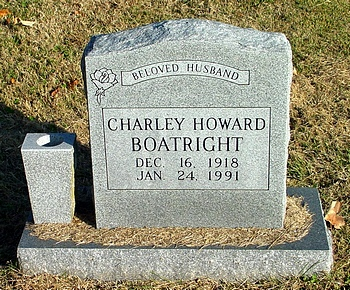 Charley Howard Boatright Gravestone
