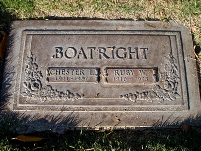 Chester Lee Boatright Gravestone