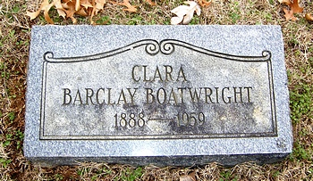 Clara Barclay Boatwright Marker