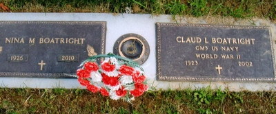 Claud L. and Nina Mae Starcher Boatright Gravestone: