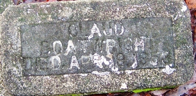 Claude Boatwright Gravestone