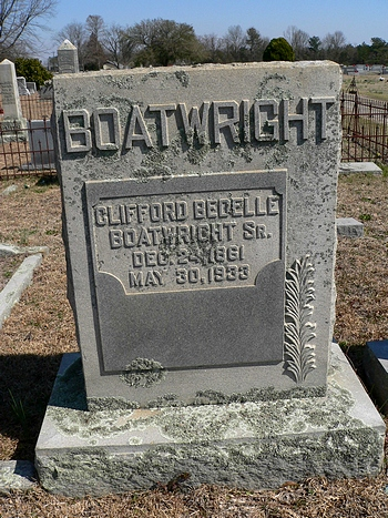 Clifford Bedelle Boatwright Gravestone